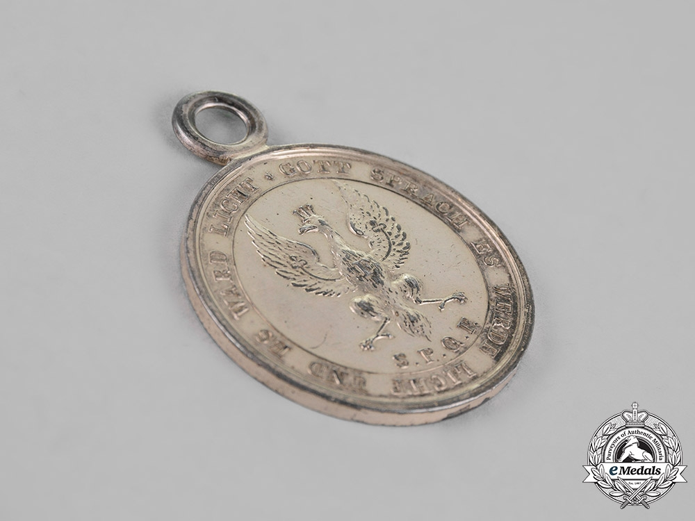 Prussia, State. A Silver Volunteers of the War of 1814 Medal