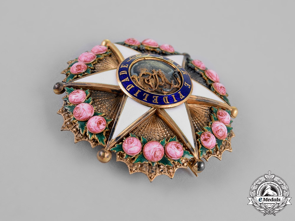 Brazil, Independent Empire. An Order of the Rose in Gold, Officer's Star, c.1880