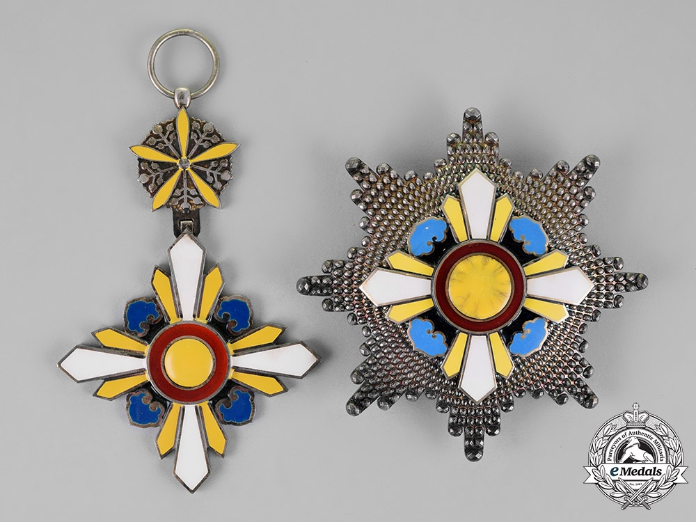 China, Japanese Occupied Manchukuo. An Order of the Auspicious Clouds, First Class, c.1940