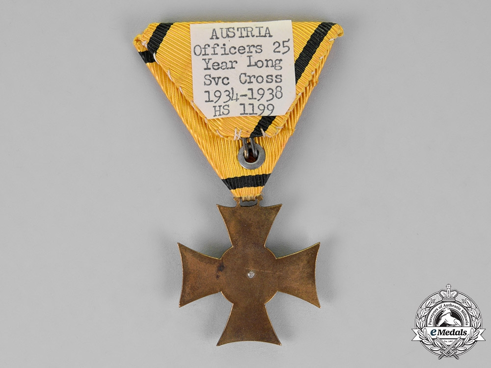 Austria, Republik. A 25-Year Long Service Cross, Second Class For Officers