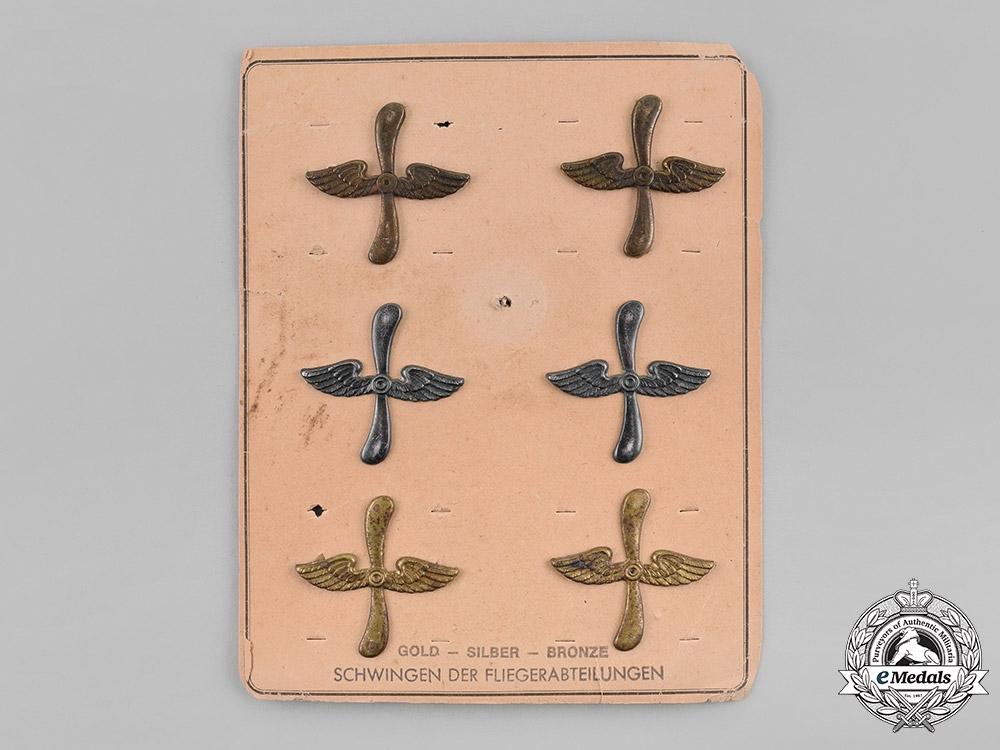 Germany, Empire. A Set of WW1 Period Wings, on Salesman's Board