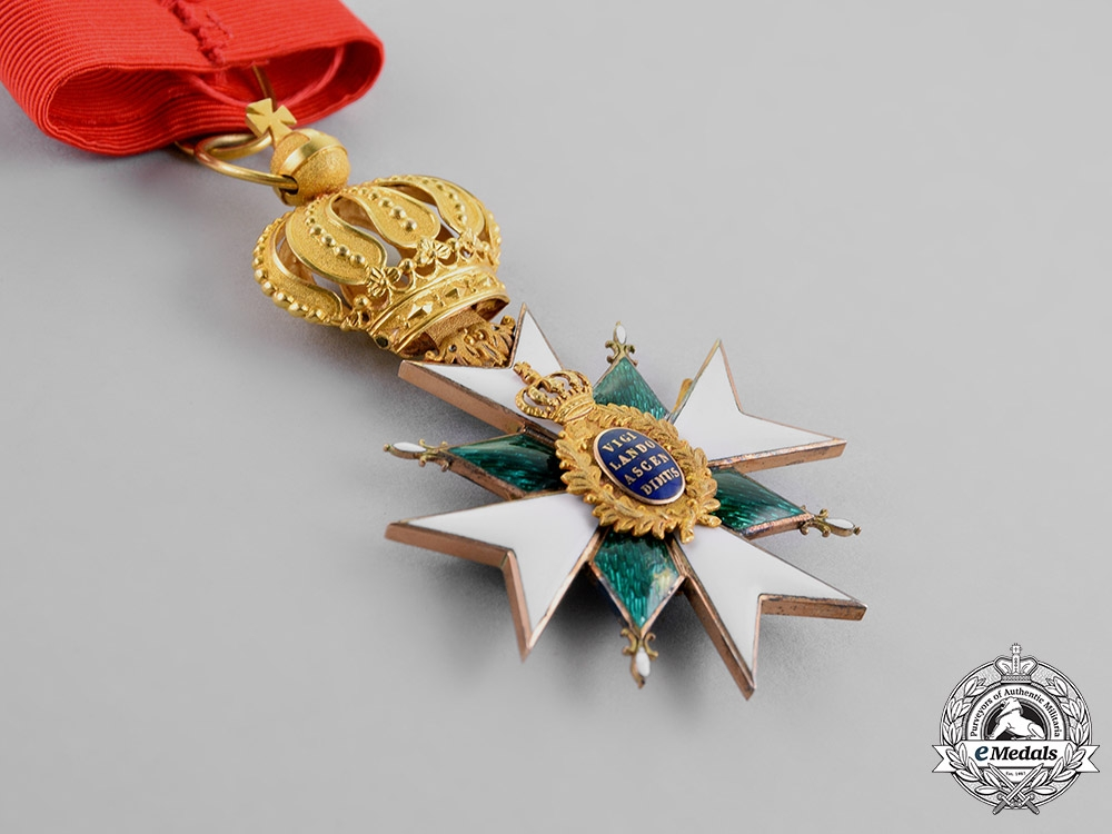 Saxe-Weimar, Duchy. An Order of the White Falcon in Gold, Grand Cross, by Th. Müller, c.1900