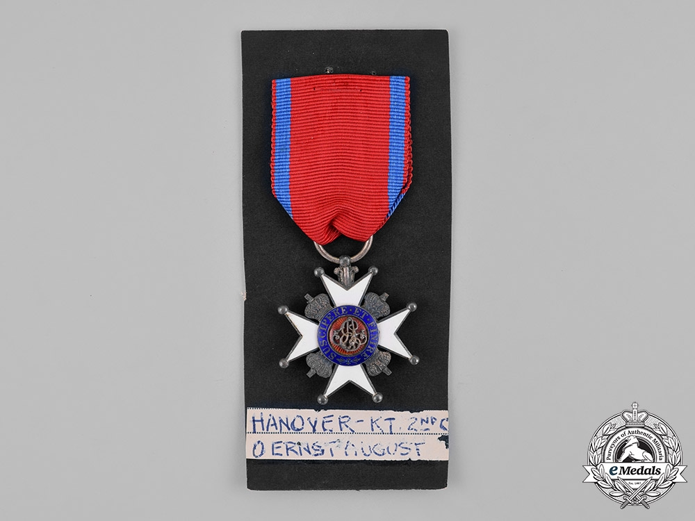 Hannover, State. An Ernst-August Order, Knight's Cross, Second Class, c.1870