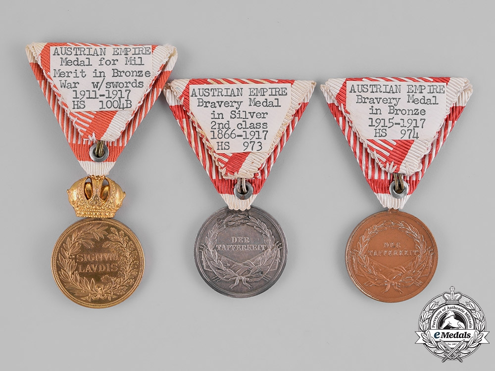 Austria, Empire. Three Austrian Imperial Medals and Awards