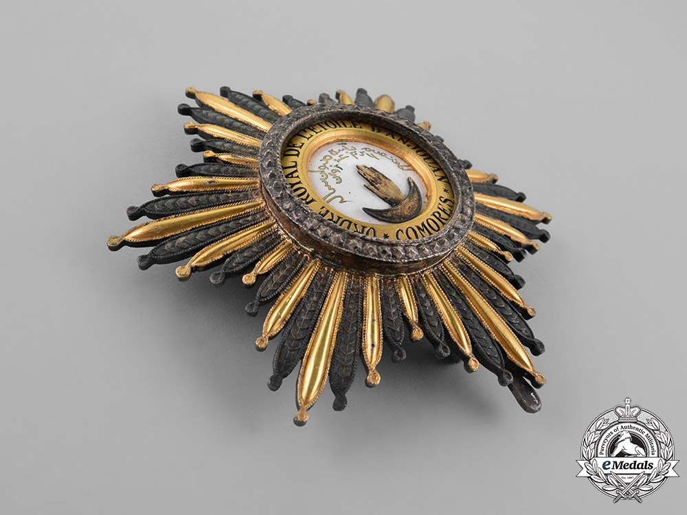 Comoros, French Colonial. A Royal Order of the Star of Anjouan, Grand Cross Star, c.1940