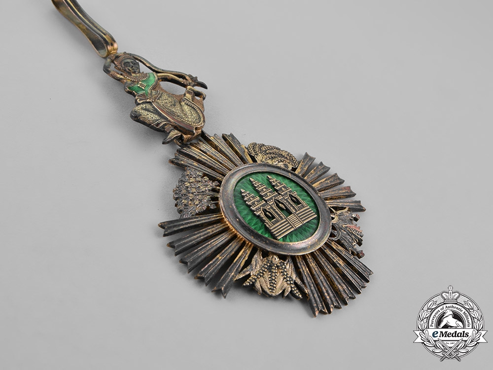 Cambodia, French Colonial. A Royal Order of Sowathara, Commander, by Adrien Chaubillon, c.1890