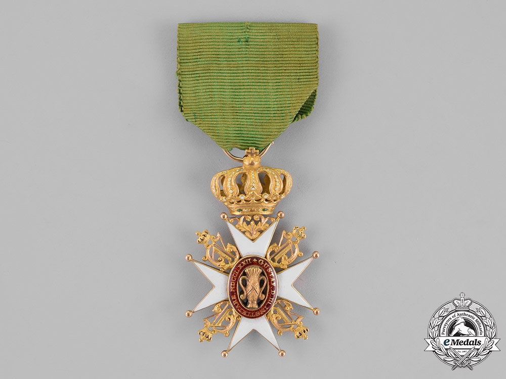 Sweden, Kingdom. An Order of Vasa in Gold, 1st Class Knight, c.1900