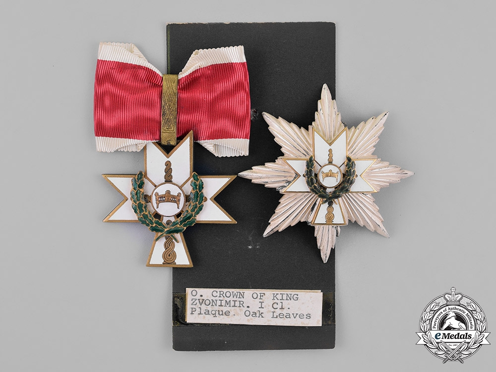 Croatia, Independent State. An Order of King Zvonimir, 1st Class Grand Officer with Oak Leaves, by Braća Knaus, c.1941