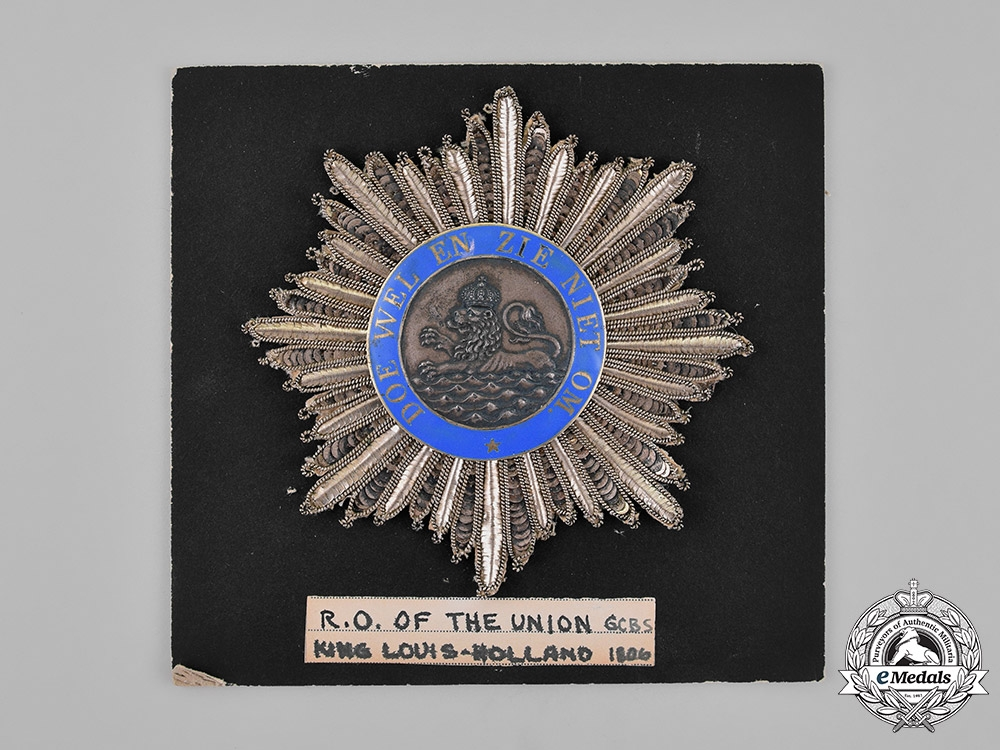 Netherlands, Kingdom. An Order of the Union, Grand Cross, c.1865
