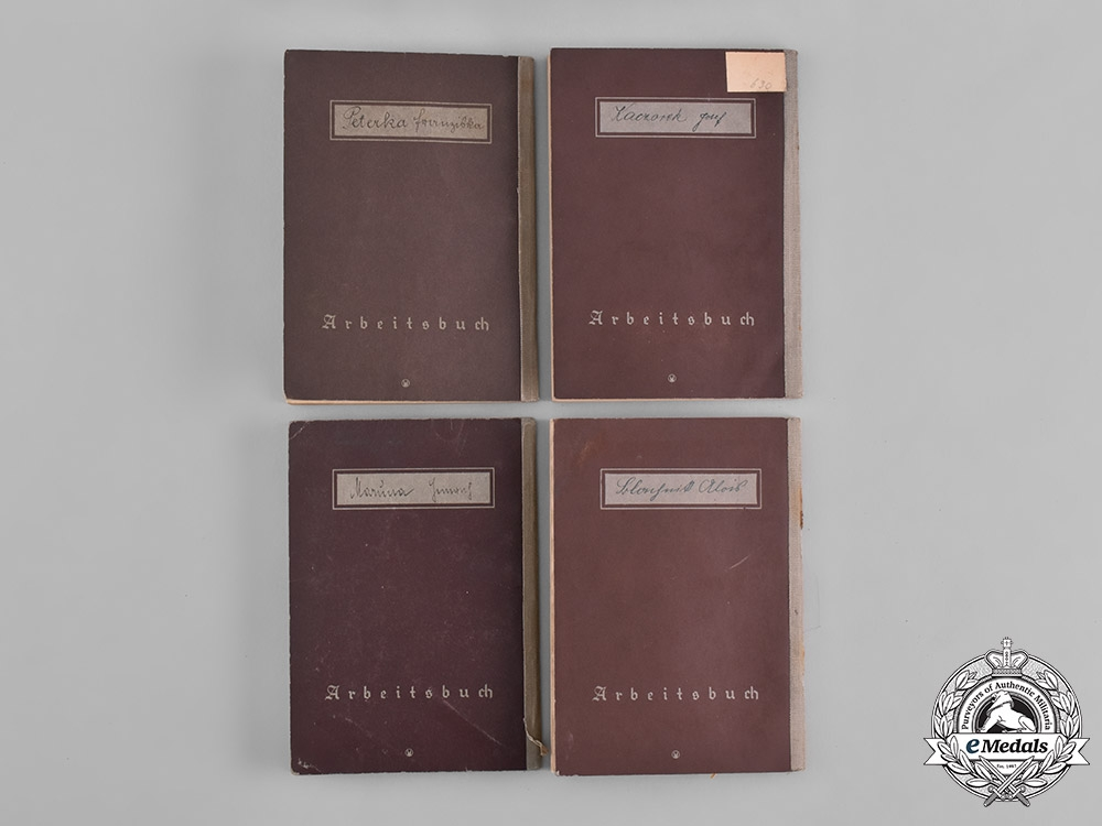 Germany, Third Reich. A Lot of Seven of German Labour Books
