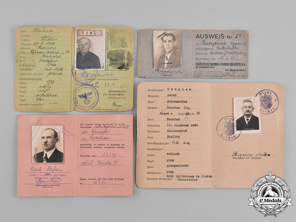 Germany. A Lot of Second War Period Identification Documents