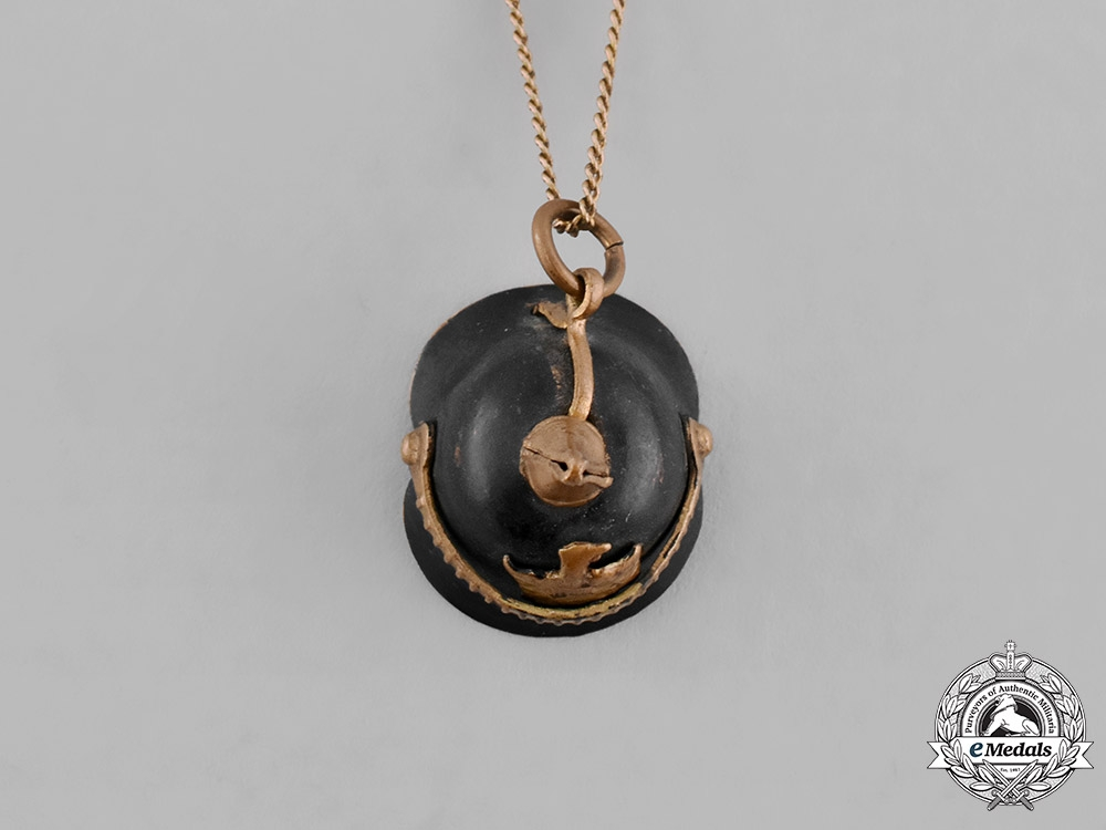Germany, Imperial. A Necklace with Pickelhaube Charm