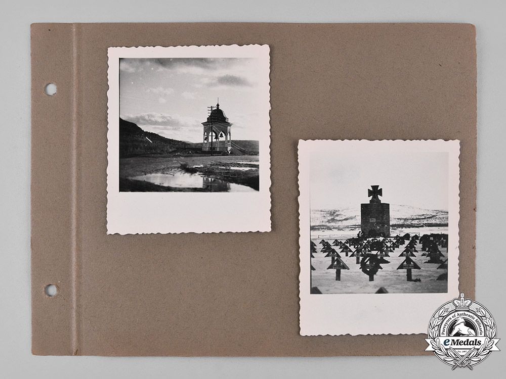 Germany, Heer. An Award Document for a Lappland Shield, with Photos, to Unteroffizier Richard Leibiger