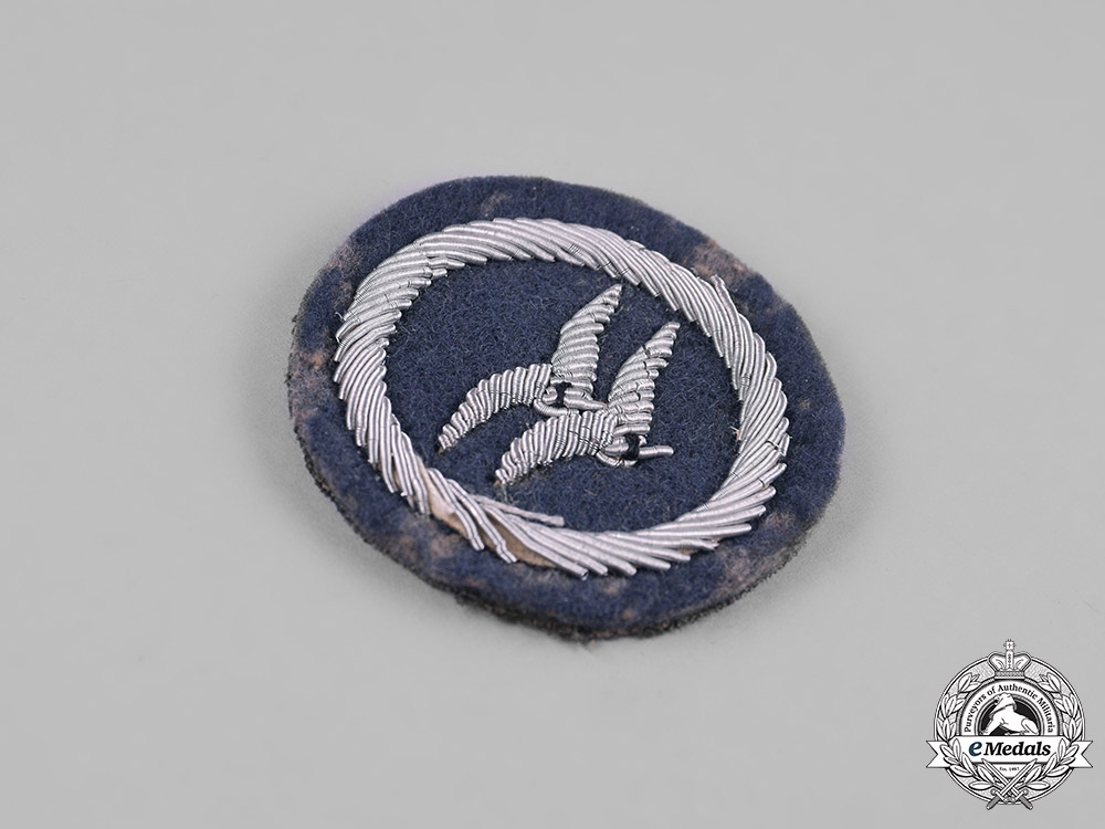 Germany, HJ. A Class B Glider Badge, Cloth Version