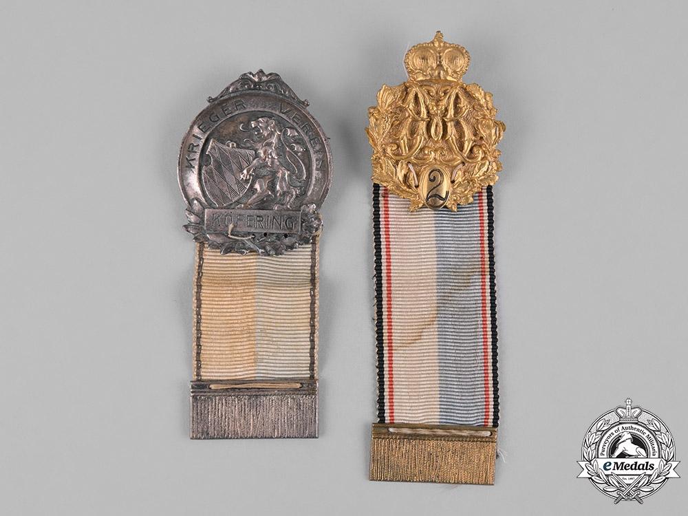 Germany, Weimar. A Pair of Bavarian Veteran's Badges