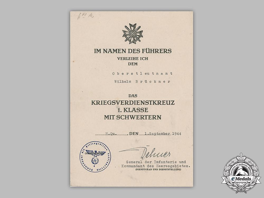 Germany, SA. The Decorations & Award Documents to Obergruppenführer Wilhelm Brückner, Führer's Chief Adjutant
