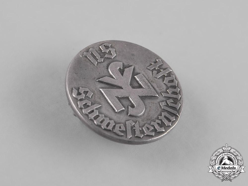 Germany, NSV. A Numbered National Socialist People's Welfare (NSV) Free Sisterhood Membership Badge