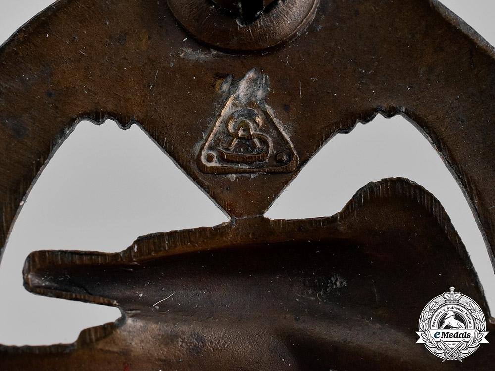 Germany, Wehrmacht. A Panzer Assault Badge, Bronze Grade, by Adolf Schwerdt