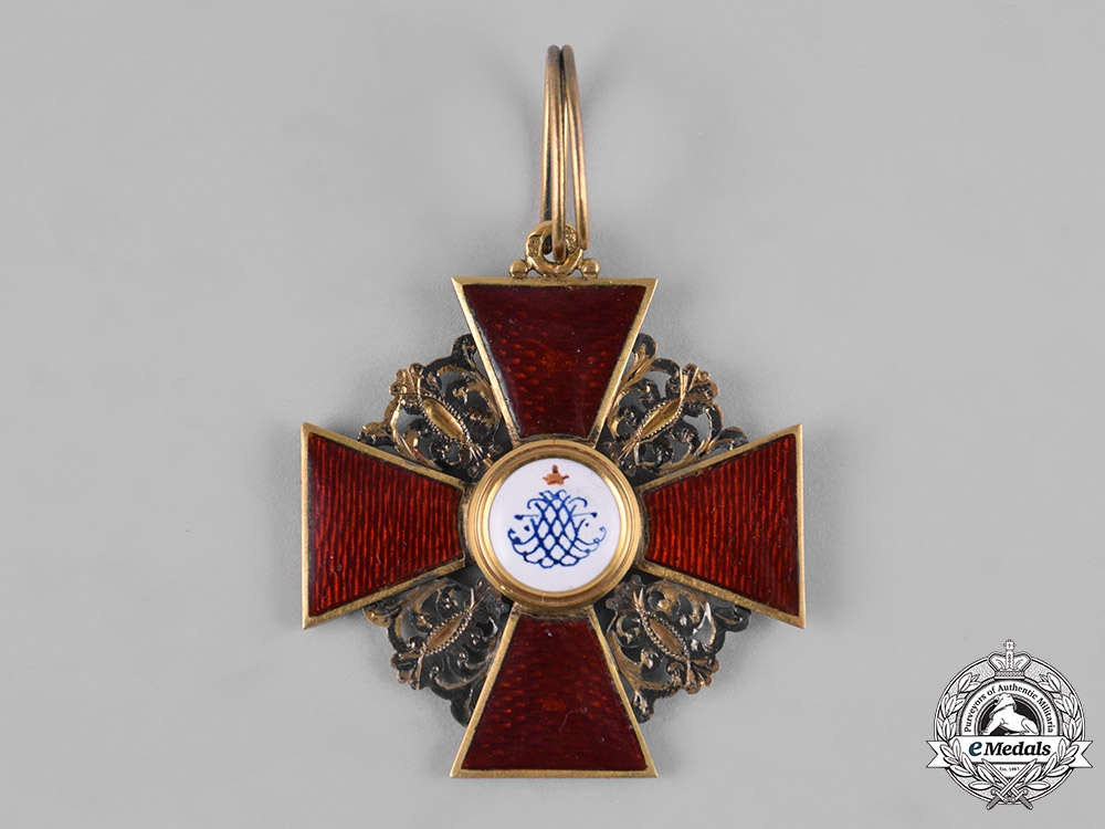 Russia, Imperial. An Order of Saint Anne, I Class Cross, by Julius Keibel ca. 1867