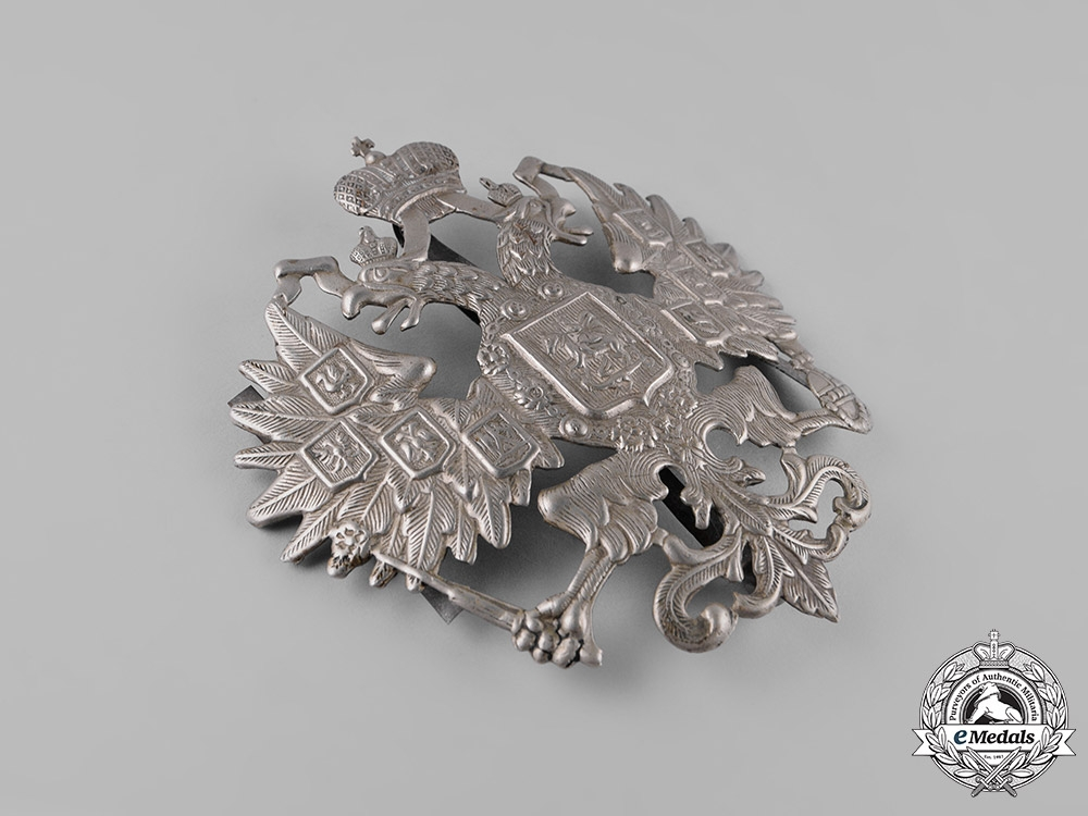 Russia, Imperial. An Army General Staff Shako Plate, c.1908