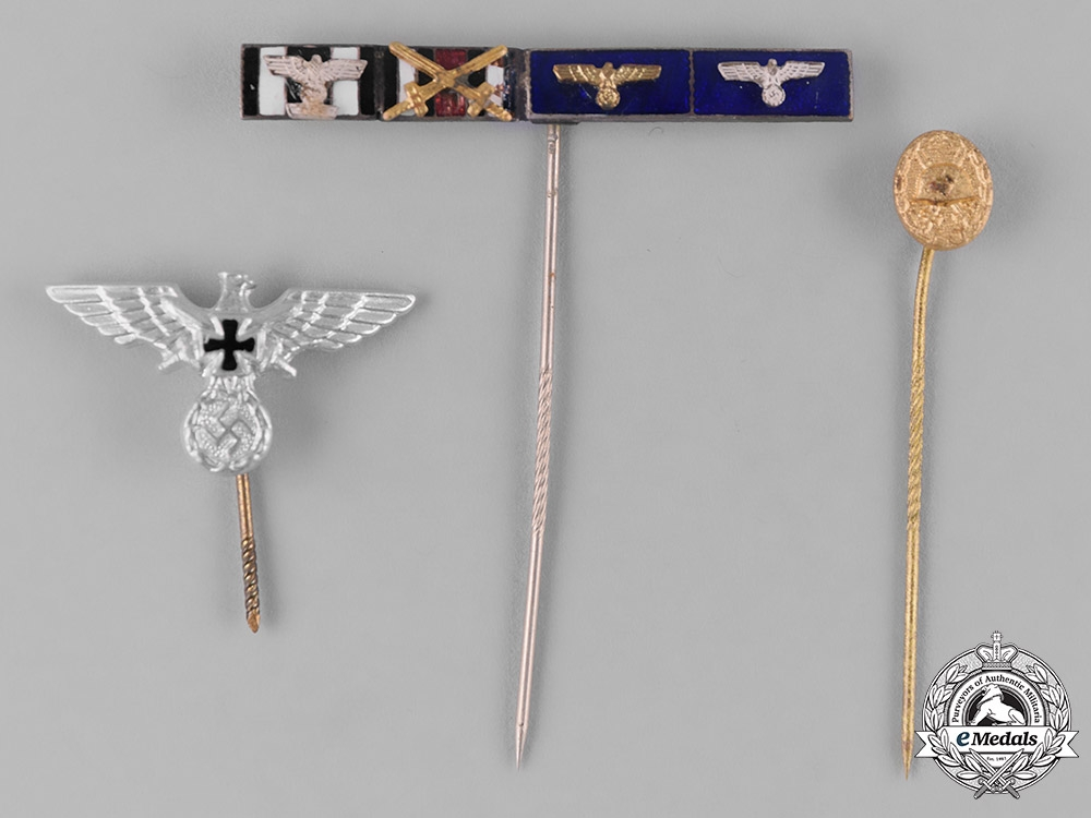 Germany, Third Reich. A Lot of Three Stickpins