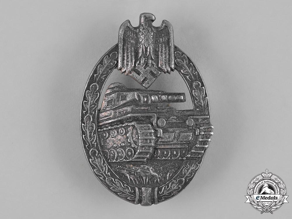 Germany, Wehrmacht. A Panzer Assault Badge, Silver Grade, by Hermann Aurich