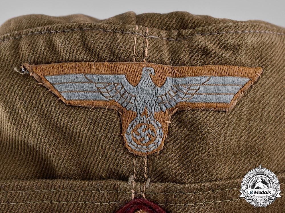 Germany, Heer. A Smoke Troops EM/NCO's Tropical Overseas Cap, by Karl Kubach