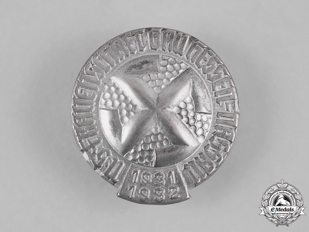 Germany, NSDAP. A Rare 1931/32 National Socialist Women's League (NS-Frauenschaft) Hesse-Nassau District Honour Badge
