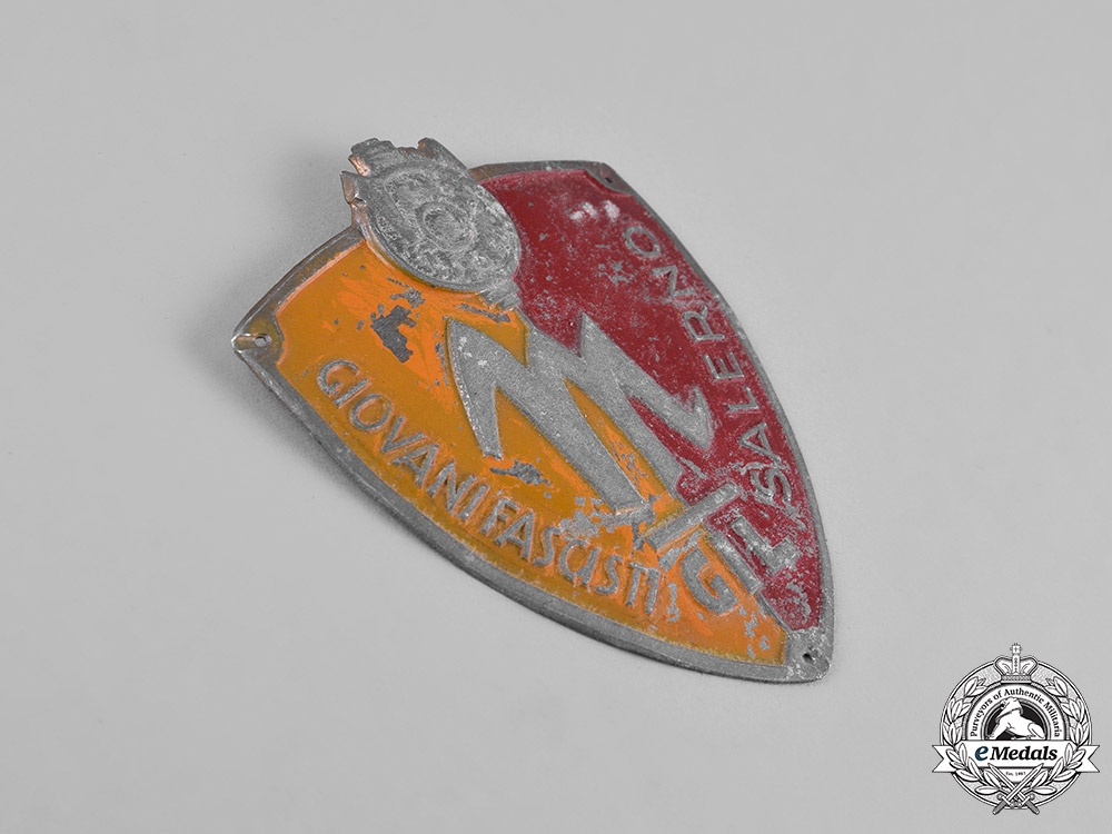 Italy, Kingdom. GIL (Gioventu Italiana del Littorio) Giovani Fascist Youth Salerno Sleeve Badge