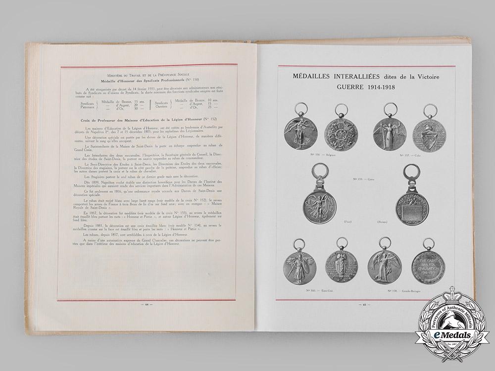 France, Republic. Décorations France et Colonies, by M. Delande, c. 1934