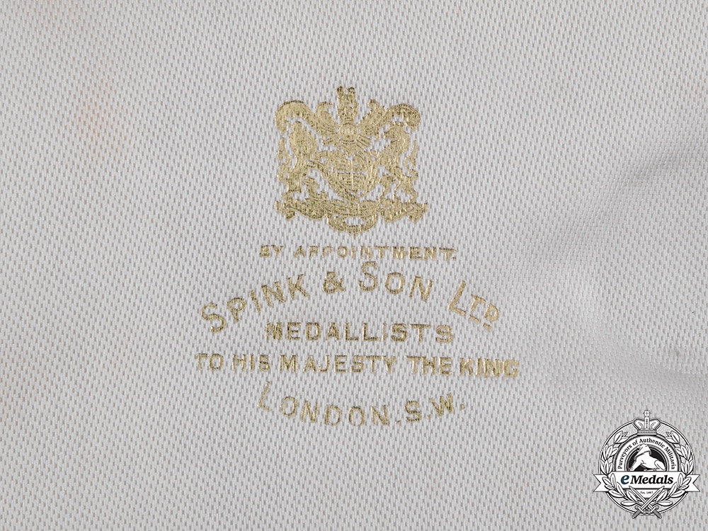 Greece, Kingdom. An Order of the Redeemer, I Class Grand Cross Case with Sash and Letter from the War Office