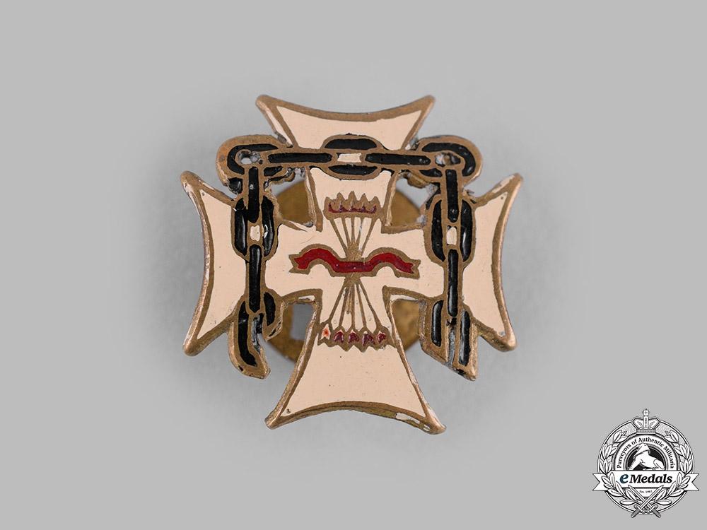 "Spain, Fascist State. A Falange ""Ex Cautivos"" Captivity Cross, Miniature"
