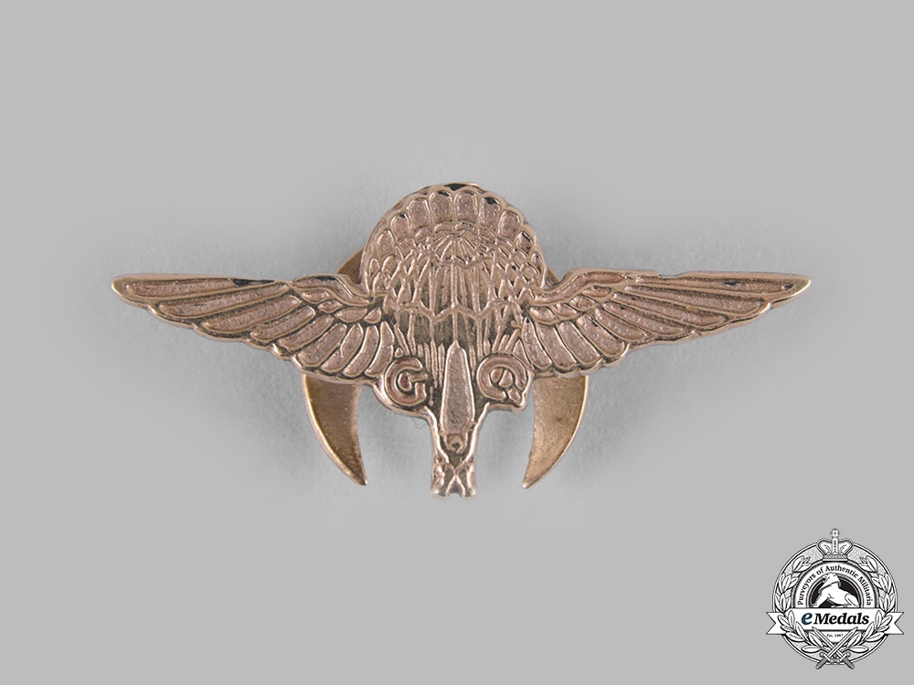 United Kingdom. A Gaunt-Made Gregory & Quilter Parachute Company Badge, Glider Pilot Regiment