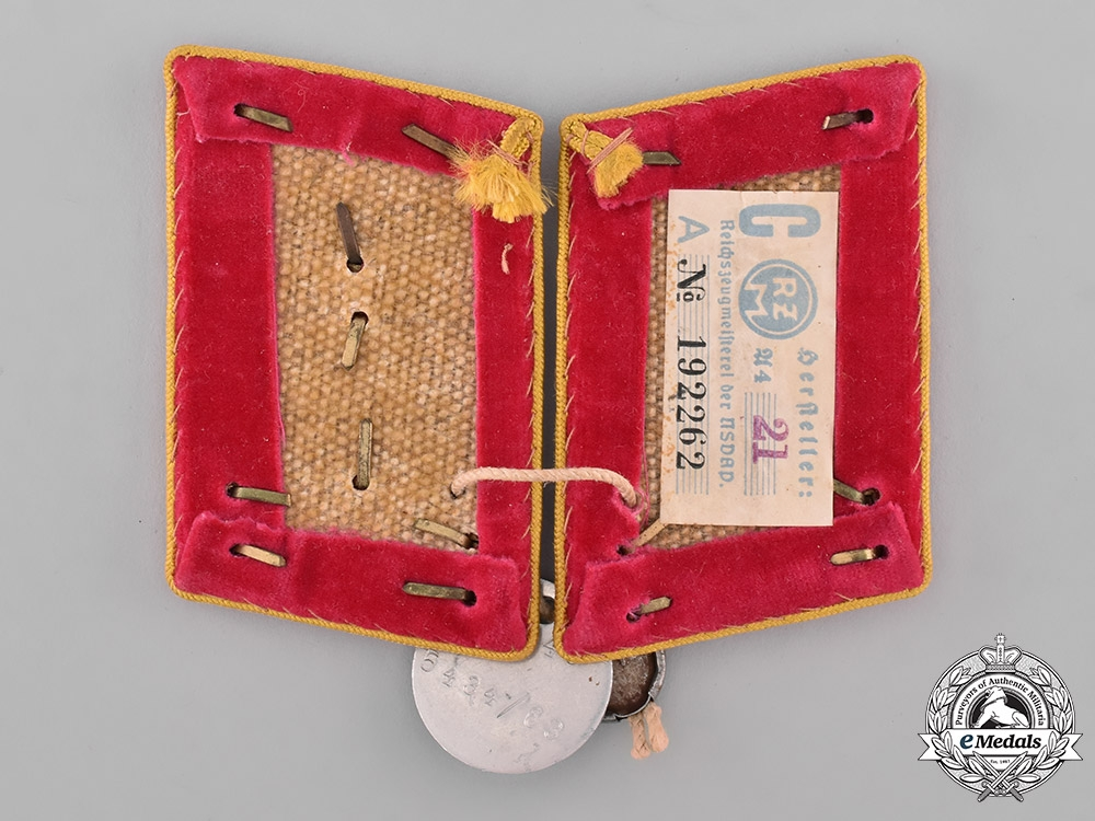 Germany, NSDAP. A Pair of Reichs-Level Hauptabschnittsleiter Collar Tabs