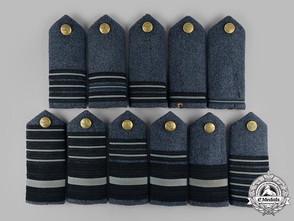 United Kingdom. A Set of Eleven Royal Air Force (RAF) Commissioned Ranks Shoulder Boards