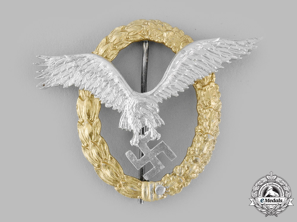 Germany, Luftwaffe. A Pilot & Observer Badge in Aluminum, by C.E. Juncker