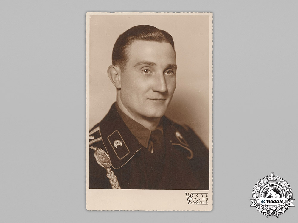 Germany, Heer. A Studio Portrait Of A Panzer NCO With Dedication From Russia, 1942