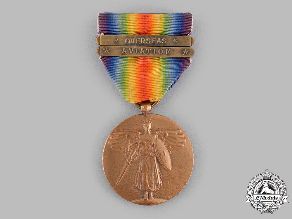 United States. A World War I Victory Medal, Aviation Clasp