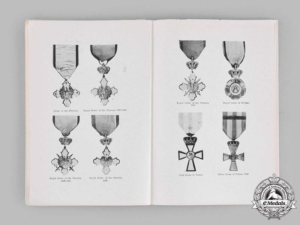 Greece, Kingdom. Three Publications on Greek Orders & Awards