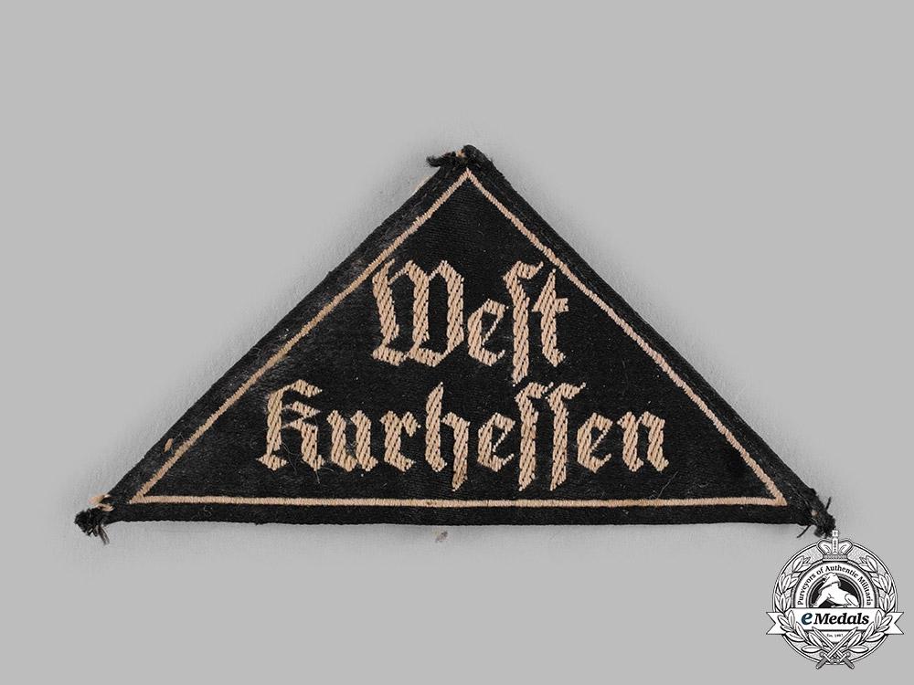 Germany, BDM. A League of German Girls (BDM) West Kurhessen District Sleeve Patch