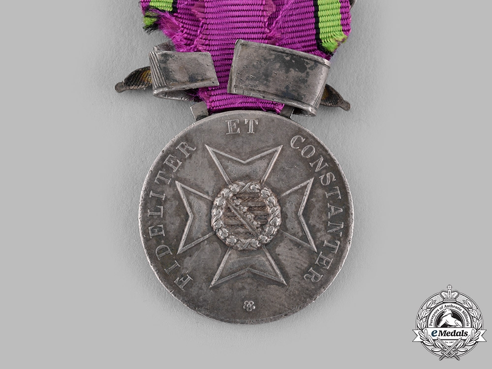 Saxe-Coburg and Gotha, Duchy. A Saxe-Ernestine House Order, Silver Merit Medal with Sword Clasp 1914