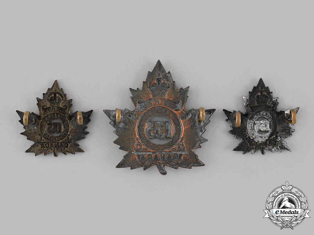 """Canada, CEF. A 155th Infantry Battalion """"Quinte Battalion"""" Insignia Set"""