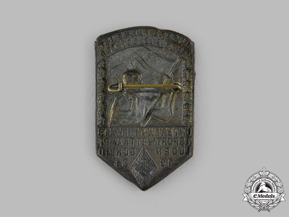 Germany, HJ. A 1934 HJ Lüdenscheid Sports Competition Badge