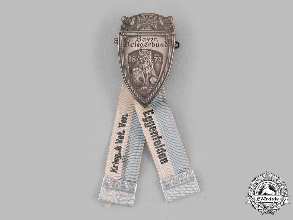 Germany, Weimar Republic. An Eggenfelden Bavarian Veterans Association Membership Badge by Deschler & Sohn