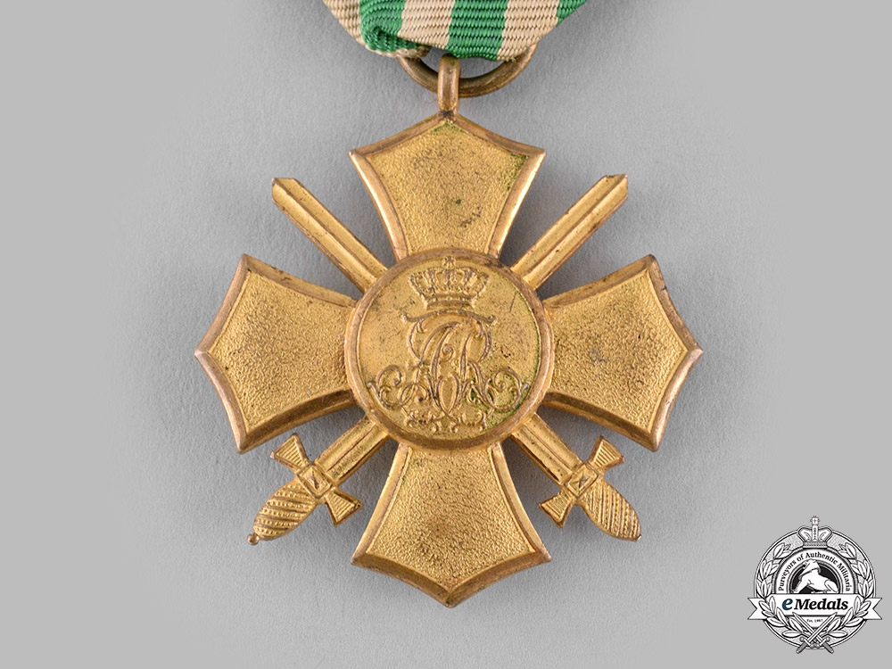Saxony, Kingdom. A General Honour Cross with Swords, c.1910