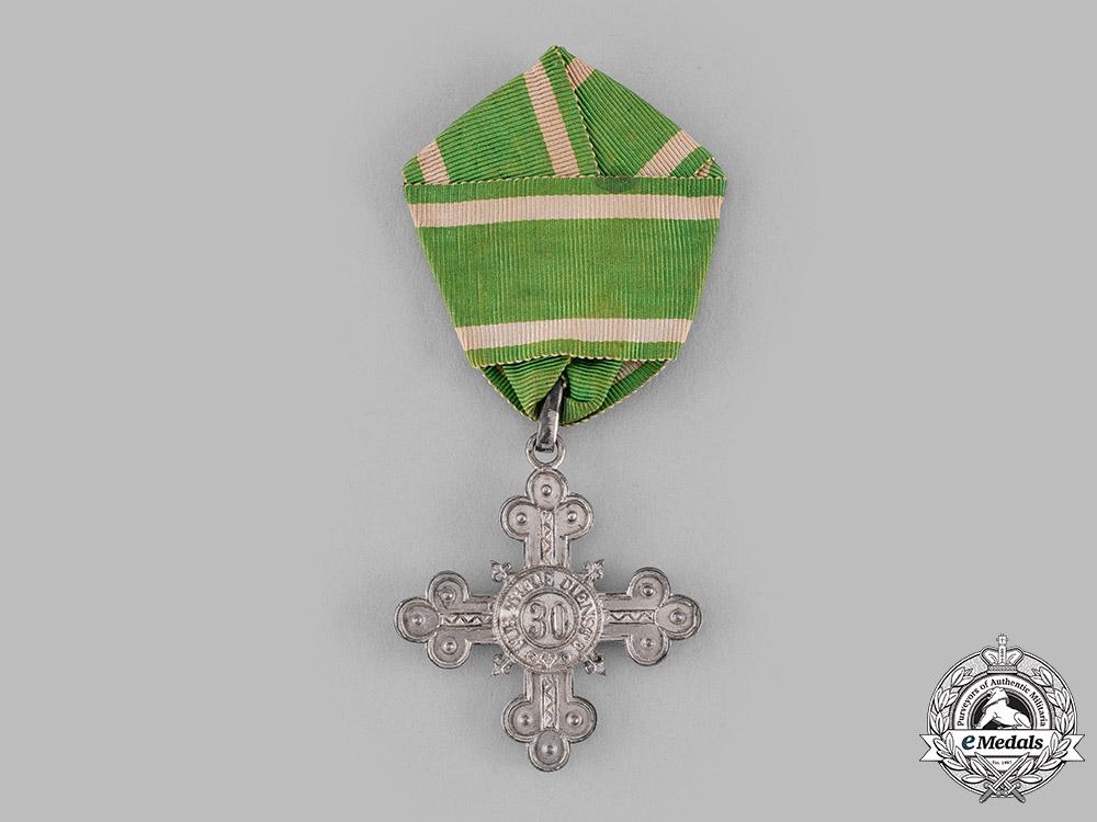 Saxe-Altenburg, Duchy. A 30-Year Honour Cross for Servants, c.1890