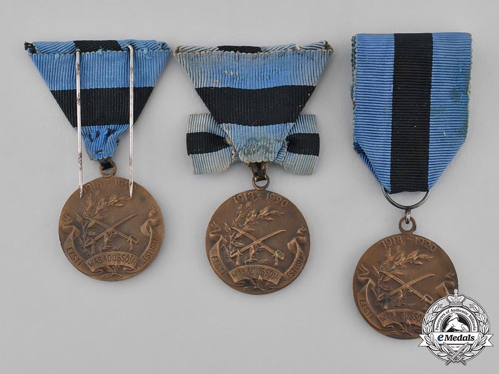 Estonia, Republic. A Lot of Medals of the Estonian Independence War