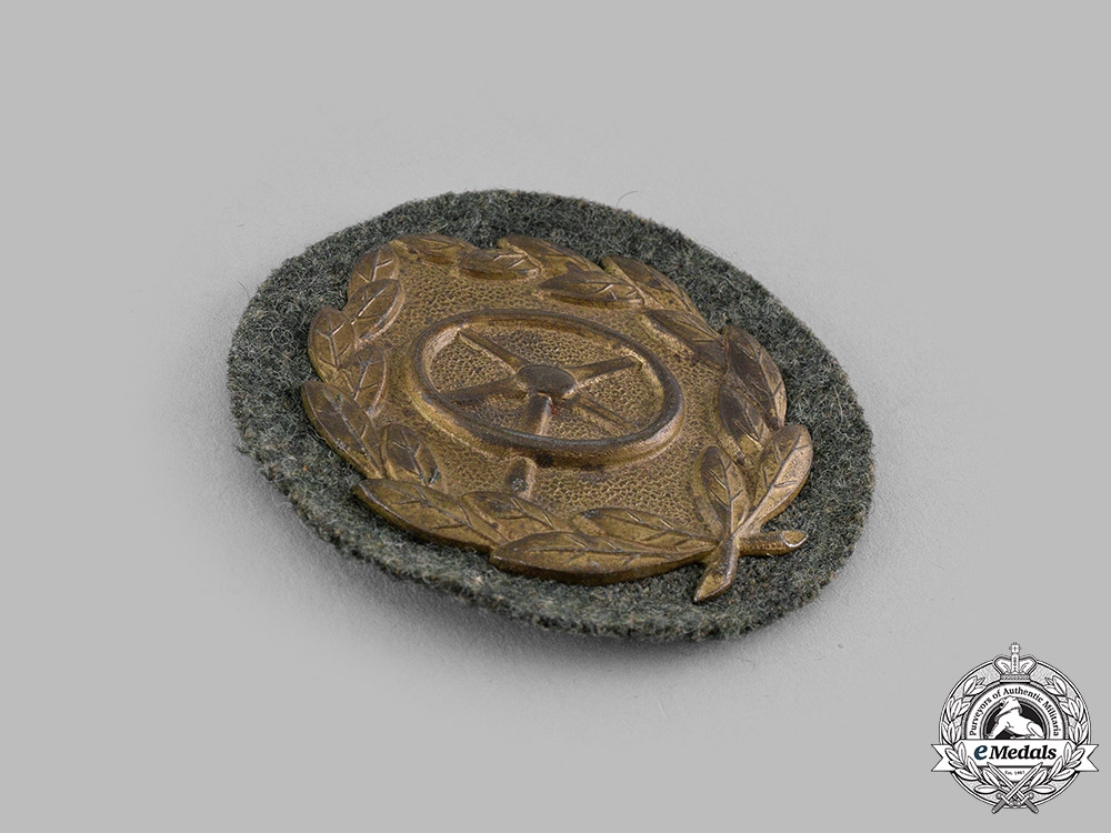 Germany, Wehrmacht. A Driver Proficiency Badge, Bronze Grade