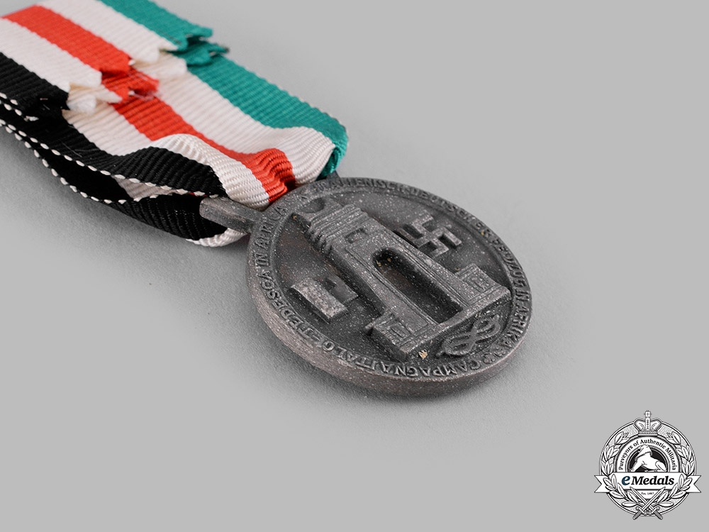 Italy, Kingdom. An Italian-German African Campaign Medal by Lorioli