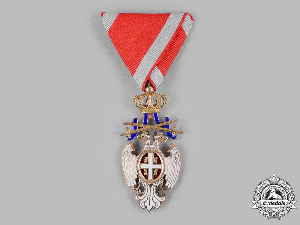 Serbia, Kingdom. An Order of the White Eagle, V Class Knight with Swords, c.1920